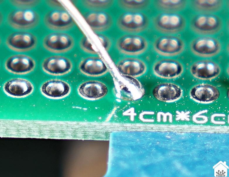 Too much solder